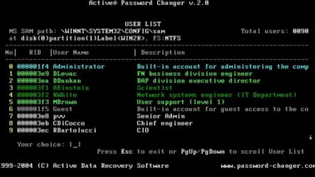 Active Password Changer торрент скачать